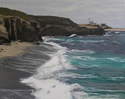 Shores Painting Originals - La Jolla Shores by Gwendolyn Hope-Battley