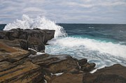 Gallary Prints - La Jolla Waves Print by Gwendolyn Hope-Battley