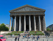France La Madeleine Metal Prints - La Madeleine Paris Metal Print by Louise Heusinkveld