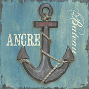 Nautical Painting Prints - La Mer Ancre Print by Debbie DeWitt
