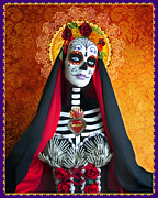 Spanish Digital Art Prints - La Muerte Print by Tammy Wetzel
