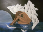 Night Angel Paintings - La Noche Triste by Gonzalo Galindo