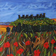 Tuscan Hills Paintings - La Notte by Seonaid  Ross