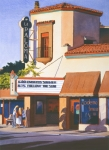 Theater Painting Prints - La Paloma Theater in Encinitas Print by Mary Helmreich