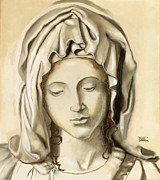 Michelangelo Mixed Media Posters - La Pieta 2 Poster by Terry Webb Harshman