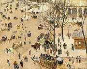 Camille Pissarro - La Place due Theatre Francais by Camille Pissarro