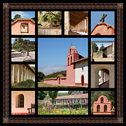 Reconstructed Posters - La Purisima Mission #1  Poster by Art Block Collections