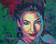 Singer  Paintings - La Reina de Miami by Maria Arango