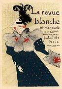 Blanche Framed Prints - La revue blanche Framed Print by Sanely Great