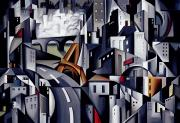 Road Travel Painting Posters - La Rive Gauche Poster by Catherine Abel