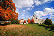 Campus Posters - La Roche College on a Fall Day Poster by Amy Cicconi