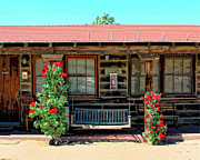 Old Log Cabin Photographs Photos - LA ROSA MOTEL Pioneer Town by William Dey