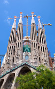 Christian Art - La Sagrada Familia cathedral in Barcelona by Michal Bednarek