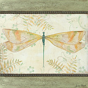 Dragonfly Paintings - La Sauge Libellule-3 by Jean PLout