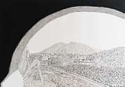 Bishop Hill Prints - La Silla Hill from Bishops Museum Print by Eduardo Machuca