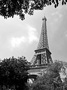 Mars Black Framed Prints - La Tour Eiffel Framed Print by Alex Cassels