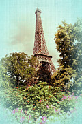 Belle Epoque Photo Prints - La Tour Eiffel Print by Claudia Carlsen