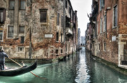 Venice Waterway Posters - La Veste in Venice Poster by Marion Galt