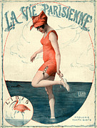 Swimsuits  Swimming Costumes Posters - La Vie Parisienne 1910s France Georges Poster by The Advertising Archives