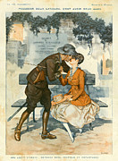 First Love Drawings Framed Prints - La Vie Parisienne 1916 1910s France Framed Print by The Advertising Archives