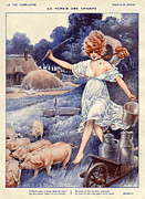 Featured Metal Prints - La Vie Parisienne  1919 1920s France Metal Print by The Advertising Archives