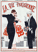 Couples Drawings Posters - La Vie Parisienne  1920 1920s France Poster by The Advertising Archives