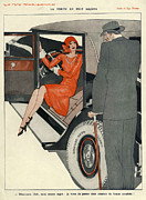 Featured Metal Prints - La Vie Parisienne 1920s France Cc Cars Metal Print by The Advertising Archives