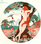 Women Drawings Prints - La Vie Parisienne 1920s France Cc Edam Print by The Advertising Archives