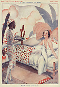 20Õs  Metal Prints - La Vie Parisienne 1920s France Fabien Metal Print by The Advertising Archives