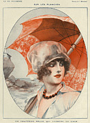 20Õs  Metal Prints - La Vie Parisienne 1920s France Herouard Metal Print by The Advertising Archives