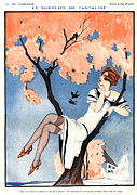 Couples Drawings Posters - La Vie Parisienne 1920s France Zyg Poster by The Advertising Archives