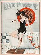 Swimsuits  Swimming Costumes Posters - La Vie Parisienne  1923 1920s France Poster by The Advertising Archives