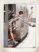 Vacations Drawings Prints - La Vie Parisienne  1925 1920s France Cc Print by The Advertising Archives