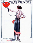 Clothes Clothing Art - La Vie Parisienne 1925 1920s France by The Advertising Archives