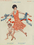 Nineteen Thirties Drawings Posters - La Vie Parisienne 1930 1930s France Poster by The Advertising Archives