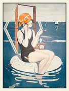 Parisienne Posters - La Vie Parisienne Poster by Nomad Art And  Design