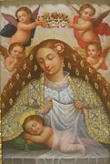 Sweetly Prints - La Virgen Del Sueno Print by Jose antonio Robles