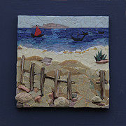 Sand Ceramics - La voile rouge by Belka Alyss