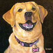 Collar Drawings Metal Prints - Lab Adorable Metal Print by Susan A Becker