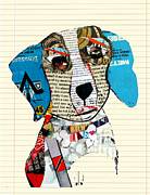 Mixed Media Collages Prints - Lab Art Print by Brian Buckley