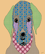 Labrador Puppy Digital Art Print by Kate Farrant
