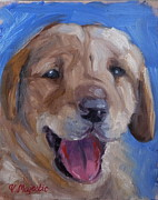 Tongue Art Painting Originals - Labrador Puppy by Viktoria K Majestic