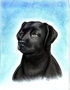 Labrador Retriever Pastels - Labrador Retriever Black by Olde Time  Mercantile