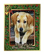 Labrador Retriever Pastels - Labrador Retriever Dog Christmas by Olde Time  Mercantile
