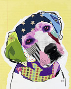 Collage Mixed Media Prints - Labrador Retriever Print by Michel  Keck