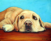 Labrador Originals - Labrador Retriever Relaxing by Dottie Dracos
