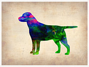 Labrador Retriever Puppy Prints - Labrador Retriever Watercolor 2 Print by Irina  March