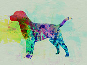Labrador Retriever Puppy Prints - Labrador Retriever Watercolor Print by Irina  March