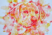 Dog Head Posters - LABRADOR - watercolor portrait Poster by Fabrizio Cassetta