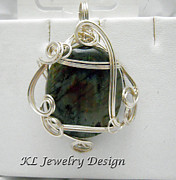 Silver-filled Art - Labradorite in Silver Pendant by Kris Penney